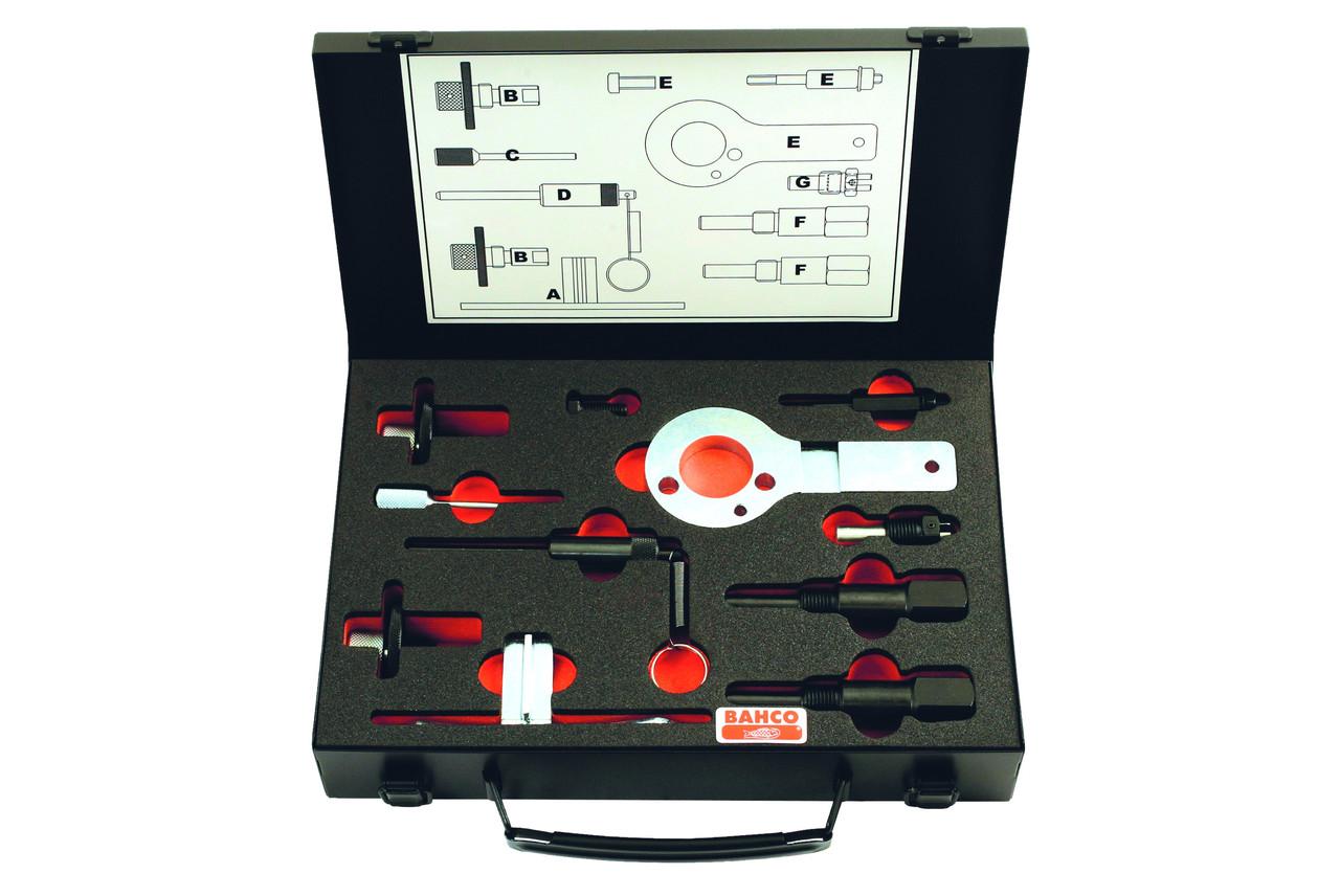 Набор для контроля и регулировки фаз газораспределения двигателей Opel/ Vauxhall/ Saab, Bahco,BE5231