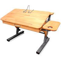 Парта стол растишка с 2 полками (серый), фото 1