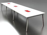 Столы офисные для переговоров на опорах с лючками А1