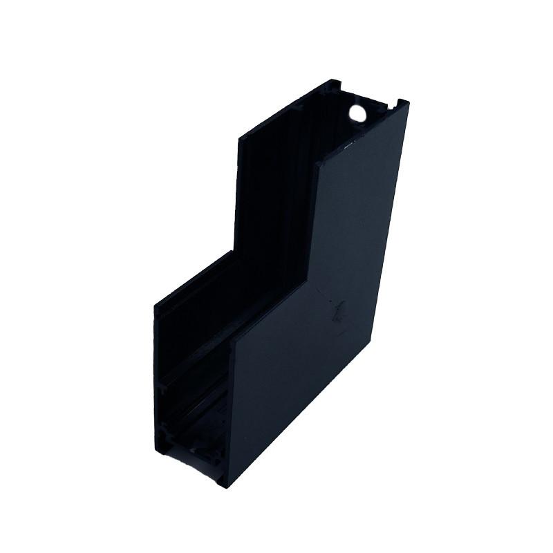 Кут трекової магнітної рейки накладної вертикальний