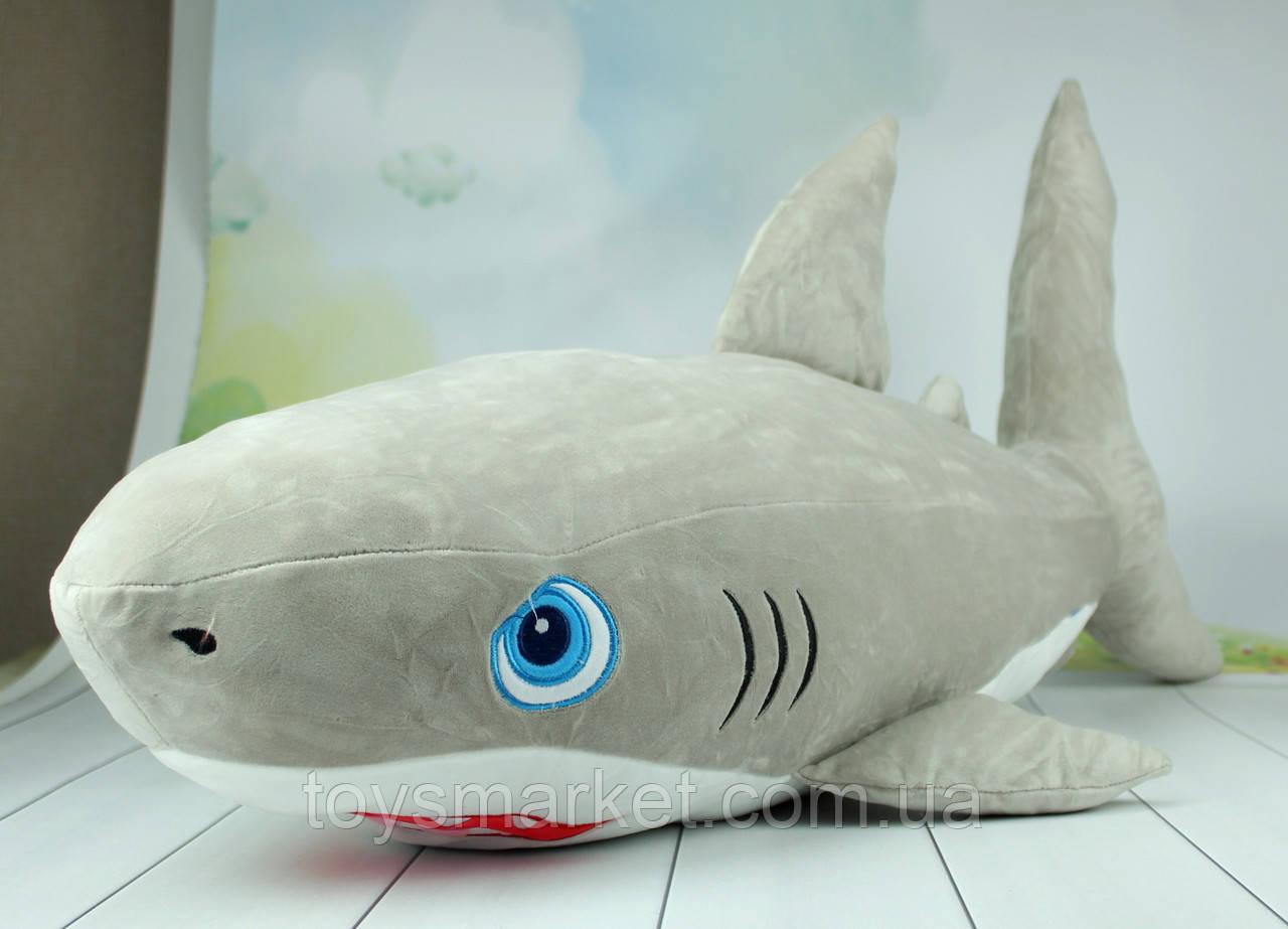 Мягкая игрушка акула, плюшевая акула, 95 см.