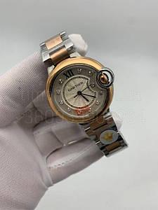 Жіночі наручні годинники Картьє (репліка) Балон Блю де Картьє 33 мм копія