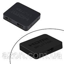 Коммутатор HDMI 1x2 порта, FullHD, 3D, сплиттер, разветвитель, компактный