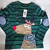 Дитячий реглан-лонгслив для хлопчика 134 зелений з собакою Cool Club