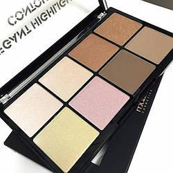 Malva Cosmetics. Elegant, палетка для контуринга особи, 8 кольорів. M 495.