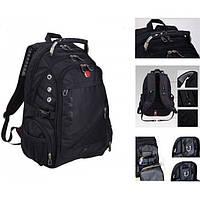 Рюкзак городской 8810 Wenger SwissGear с USB и AUX швейцарский Чёрный
