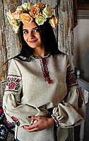 Женская вышиванка из льна UA-03