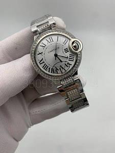 Жіночі наручні годинники Картьє (репліка) Балон Блю де Картьє Даймонд копія
