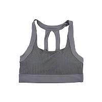 Женский топ для фитнеса Lesko Y-001 Dark Grey S. Топ для йоги спортзала спортивный.