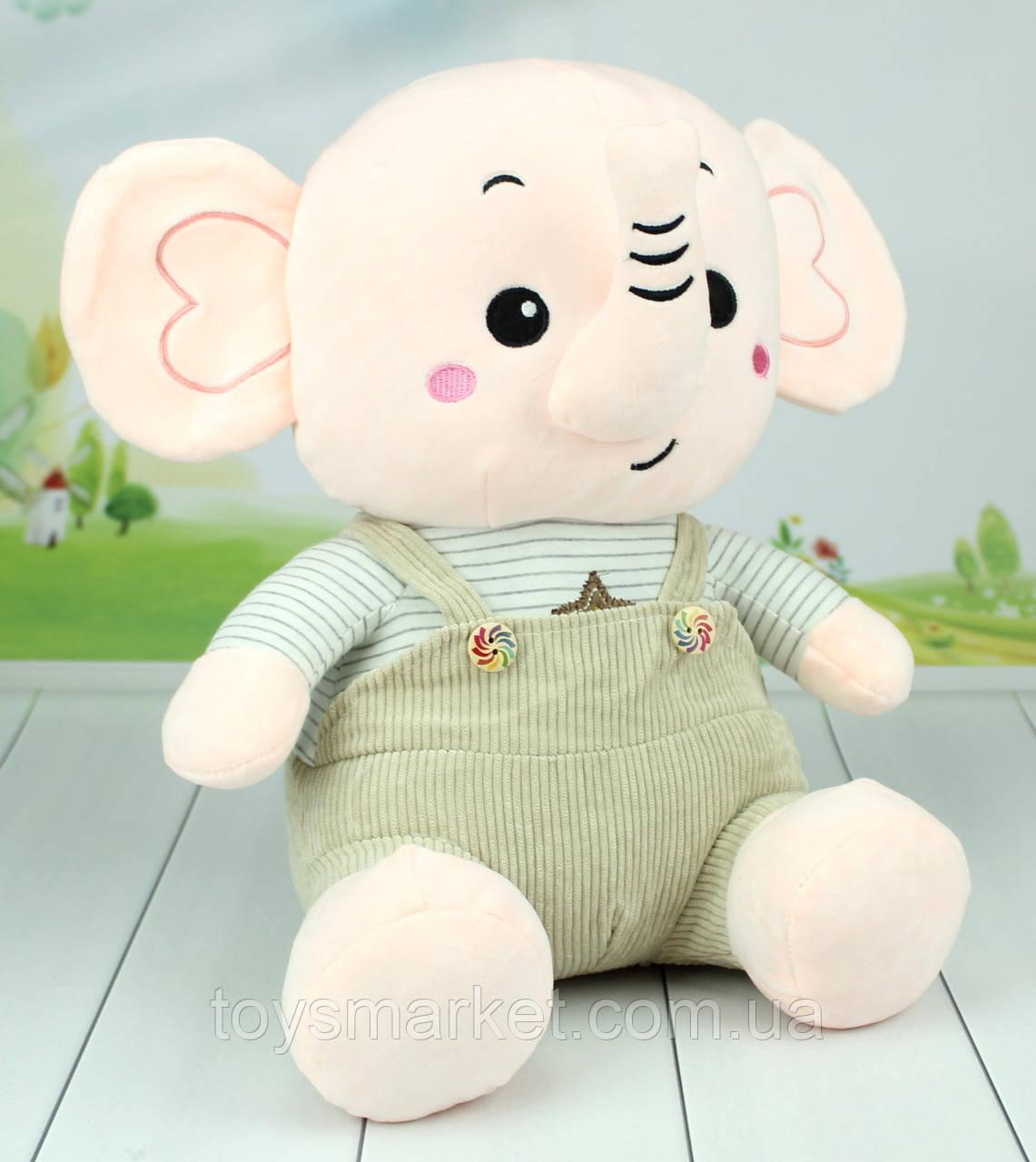 Мягкая игрушка слон, плюшевый слоник, 45 см.