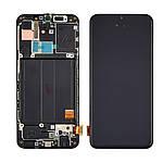 Дисплейний модуль (екран) для Samsung A405 Galaxy A40 (2019) з чорним тачскріном і корпусних рамкою OLED