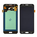 Дисплейний модуль (екран) для Samsung J500 Galaxy J5 з чорним тачскріном OLED