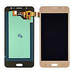 Дисплейний модуль (екран) для Samsung J510 Galaxy J5 (2016) з золотистим тачскріном OLED