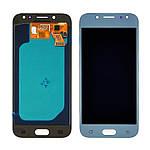 Дисплейний модуль (екран) для Samsung J530 Galaxy J5 (2017) з блакитним тачскріном OLED