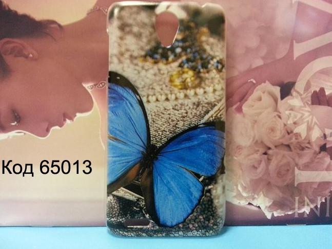 Чехол для lenovo s650 панель накладка с рисунком бабочка