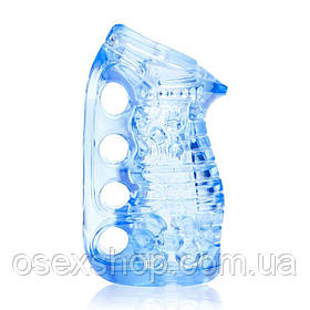 Мастурбатор Fleshlight Fleshskins Grip Blue Ice, надійна фіксація на руці, відмінно для пар і мінету