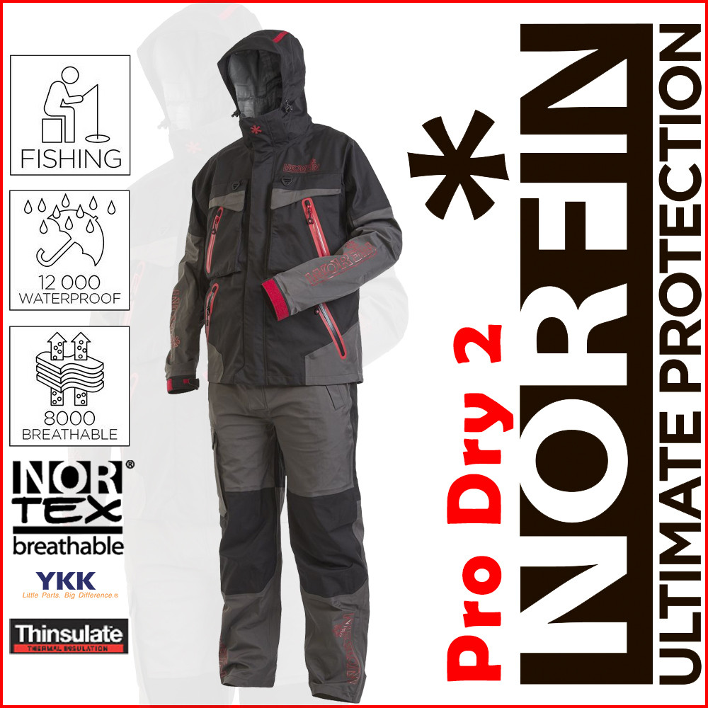 Костюм демисезонный мембранный Norfin Pro Dry Gray 2 12000мм M