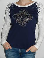 Трикотажная кофточка с кружевом женская Possession 9704 Турция (пять цветов) рр. 46, 48, 50