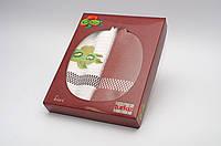 Набор кухонных полотенец Turkiz фрукты в коробке, 2*50х70 (вафельное и махровое)