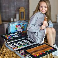 Набор для рисования и творчества детский в чемодане Единорог 145 предметов, фото 1
