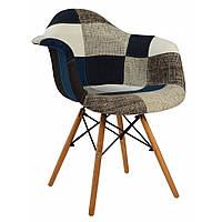 Кухонный стул кресло Bonro В-437 табурет на ножках дерево бук в гостинную обеденный стул на кухню разноцветный