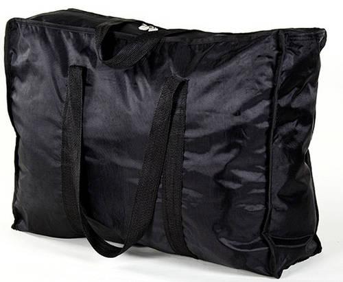 Черная дорожная сумка из плотной ткани 67 л. Traum 7072