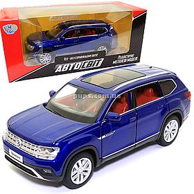 Машинка металлическая Volkswagen «Автосвіт» Фольксваген джип синий, свет, звук, 14*5*6 см (AS-2709)
