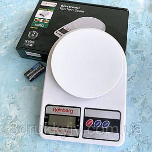 Кухонні електронні ваги до 10 кг з LCD-дисплеєм / Кухонные электронные весы до 10 кг с LCD-дисплеем
