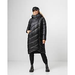 Трендовый теплый черный пуховик одеяло