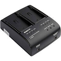 Зарядное устройство SWIT S-3602F Dual Charger/Adapter for Sony NP-F970/770/960/950 Batteries (S-3602F)