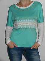 Трикотажная кофточка летучая мышь женская Possession 9708 Турция (четыре цвета) рр. 46, 48, 50