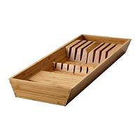 """IKEA """"ВАРЬЕРА"""" Подставка для ножей, бамбук, 20x50 см"""