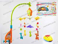 Подвесные игрушки,музыкальная подвеска,Карусель Bambi  FS 34519,+регулятор громкости,+свет,+пульт р/у,музыка