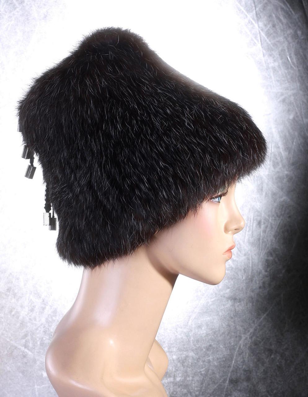 Женская меховая шапка Донышко из кролика