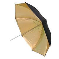 """Фото зонт 84см золотистый, 33"""" студийный"""