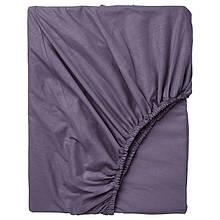 Простынь на резинке Bella Villa сатин 180х200+25 см фиолетовая