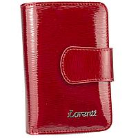 Жіночий шкіряний гаманець маленький червоний Lorenti 76115-SH red