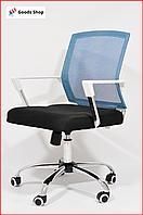 Кресло офисное для персонала Avko Style Компьютерное операторское кресло для офиса руководителя дома синее