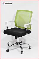 Кресло офисное для персонала Avko Style Компьютерное операторское кресло для офиса руководителя дома зеленое