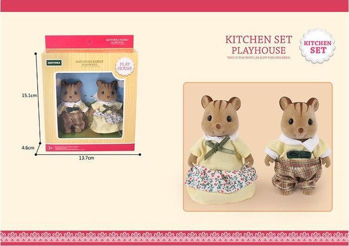 Тварини флоксовые Happy Family G08 (Білки, 2 фігурки, в коробці 13,7*4,6*15,1 см)