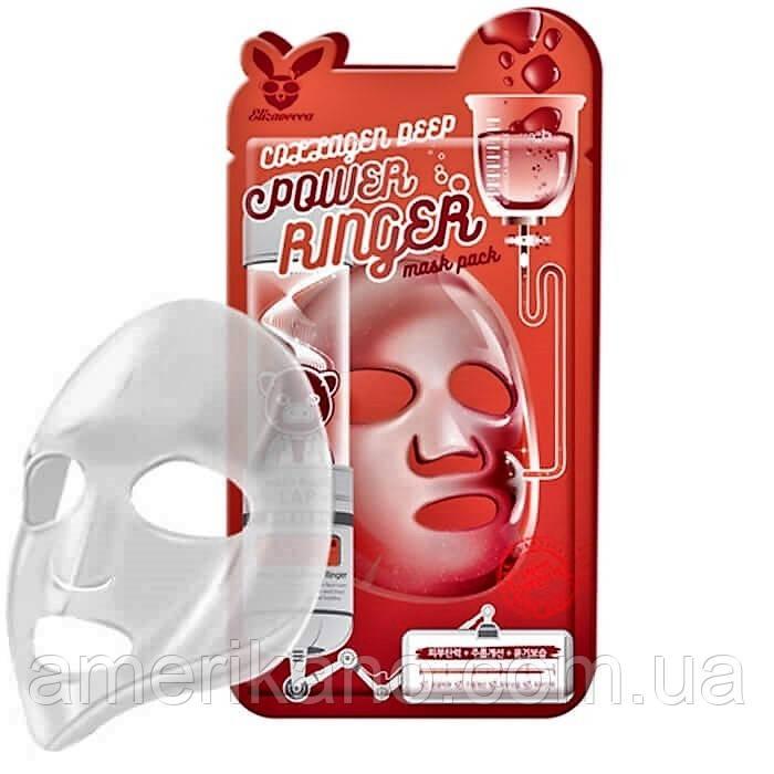 Маска для обличчя тканинна антивікова з колагеном Elizavecca Deep Power Ringer Mask - Collagen