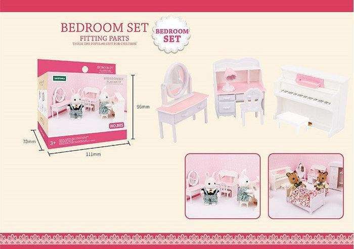 Спальня з піаніно для тварин флоксовых Happy Family B05 (Фігурки тварин в набір не входять, в коробці