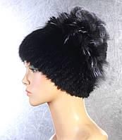 Женская меховая шапка Виноград из норки, рекса, чернобурки.