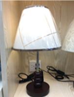Лампа настольная c абажуром MT 2002 WT