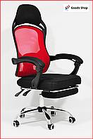 Кресло офисное для персонала Avko С подставкой для ног компьютерное кресло для офиса руководителя дома красное