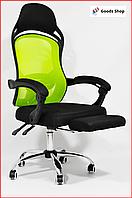Кресло офисное для персонала Avko С подставкой для ног компьютерное кресло для офиса руководителя дома зеленое