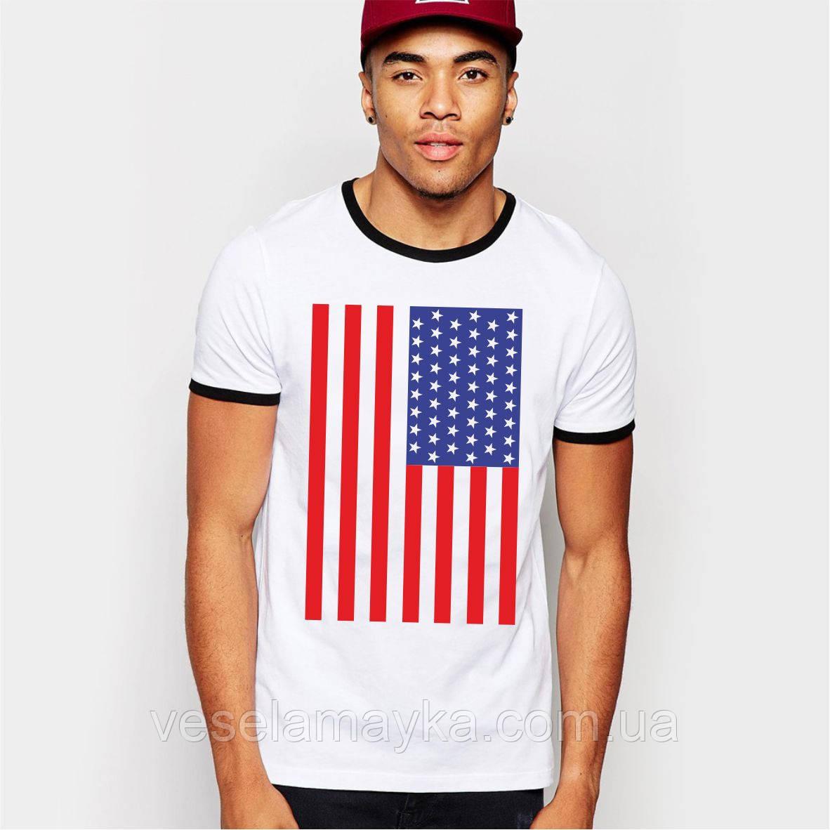 Мужская футболка Американский флаг (USA)