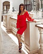 Жіноче плаття завдовжки до колін, ззаду на змійці, фото 2