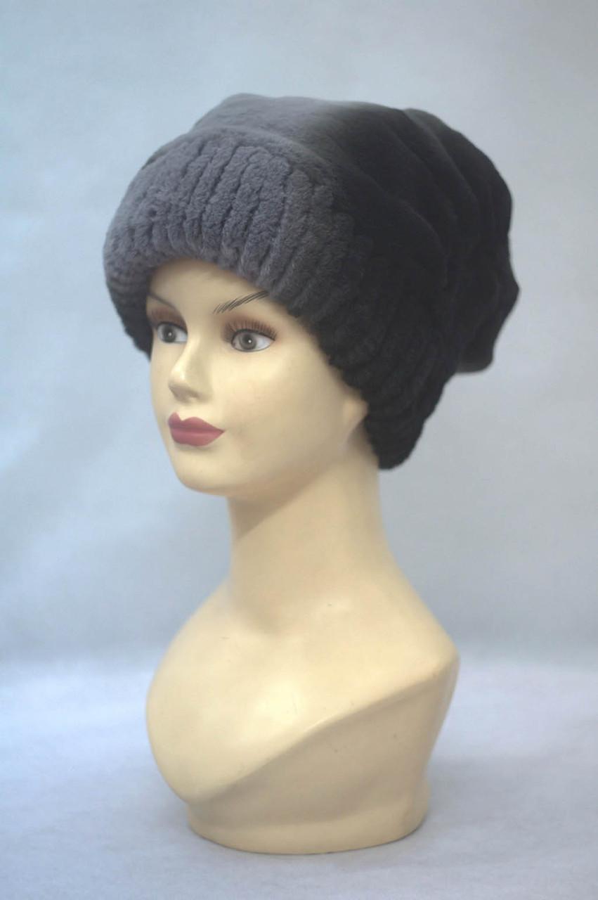 Женская меховая шапка Анжелика из рекса