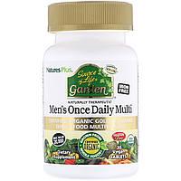 Органические Ежедневные Мультивитамины для Мужчин, Source of Life Garden, Natures Plus, 30 таблеток
